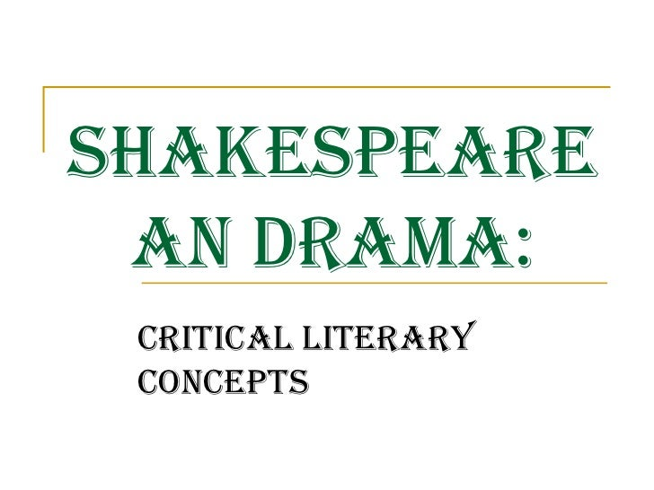 Literary Terms in A Midsummer Night's Dream