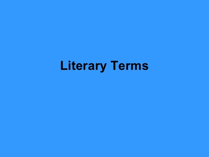 Literary Terms Ppt#1