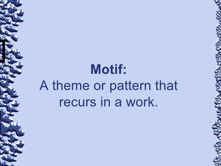 Motif Literary Term literary terms teaching1