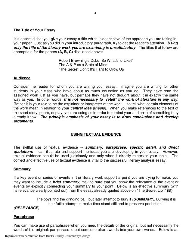 sample literary essay co sample literary essay