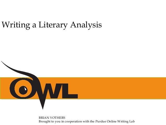 Literary analysis writing tips