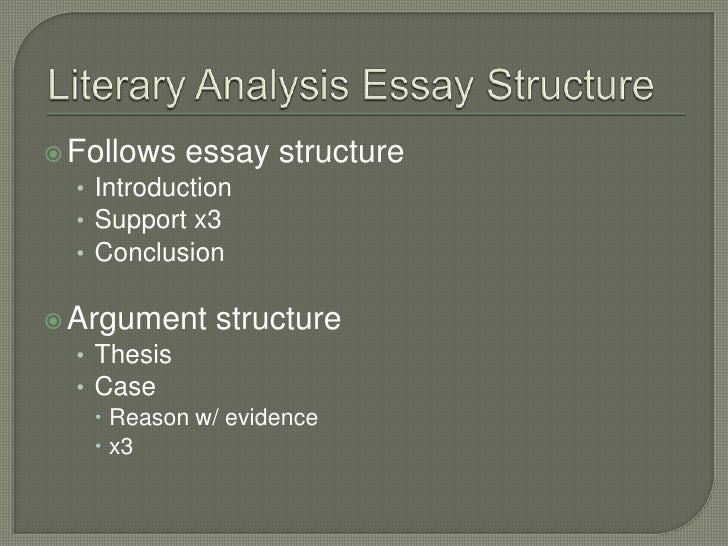 write literary analysis thesis How to write a literary analysis thesis if you need a custom written essay, term paper, research paper on a general topic, or a typical high school, college or.