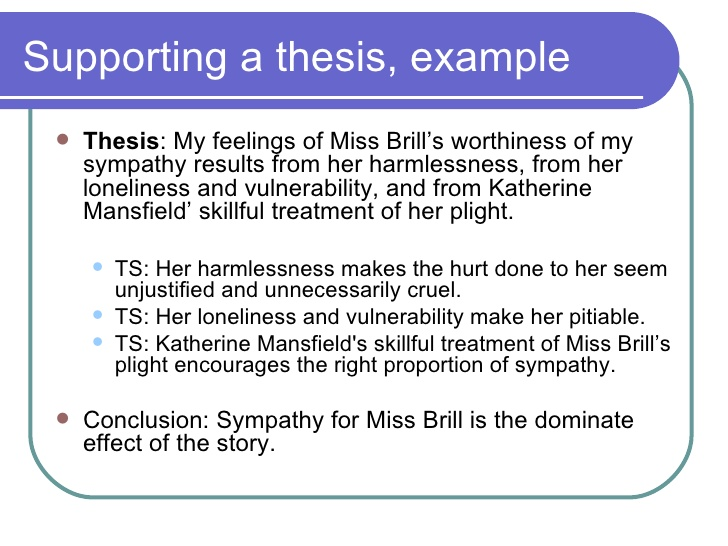 write thesis statement literary analysis essay