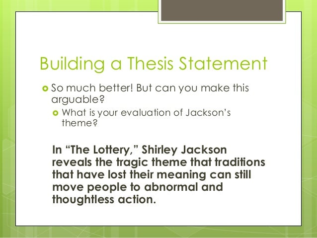 """critical analysis for the lottery essay One of the other unspoken disturbing elements of """"the lottery by shirley jackson is that the reader is never sure what the outcome of the lottery is going to be."""
