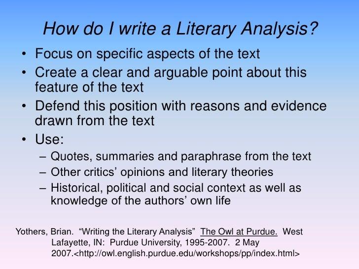 How do I start my literary analysis paper?