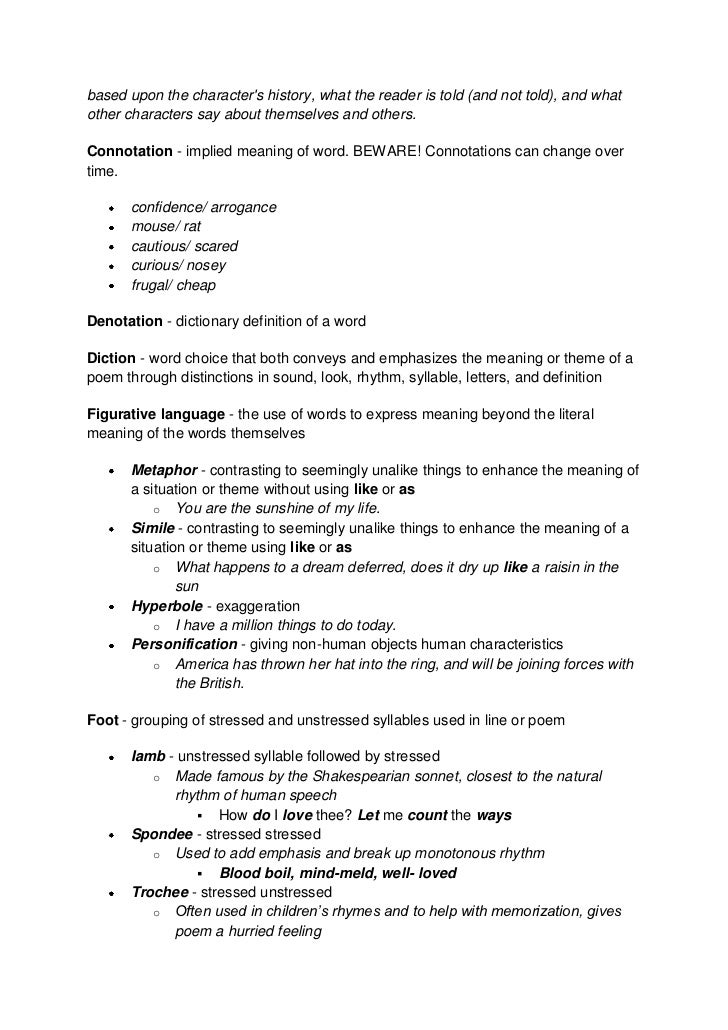 Literary Terms Essay Sample