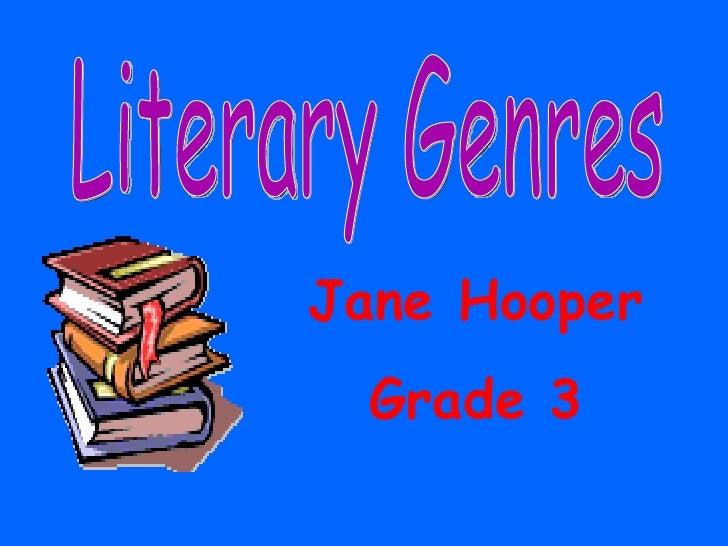 Literary Genres Pp Presentation