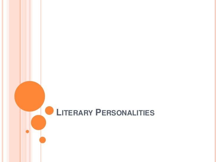 Literary Personalities<br />