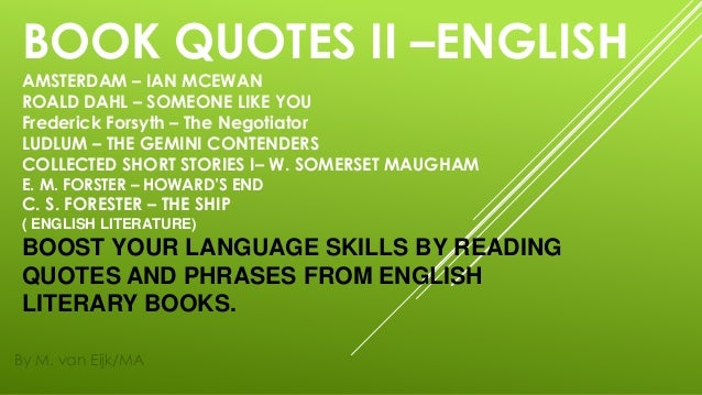 book quotes ii english by famous authors m van eijk