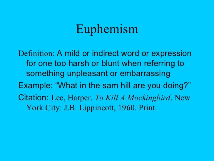 Image Result For Euphemism Definitiona