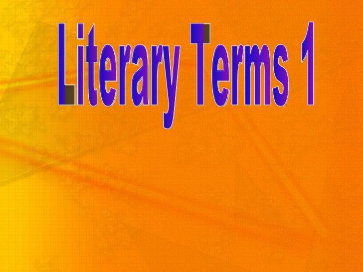 Literary Terms 1