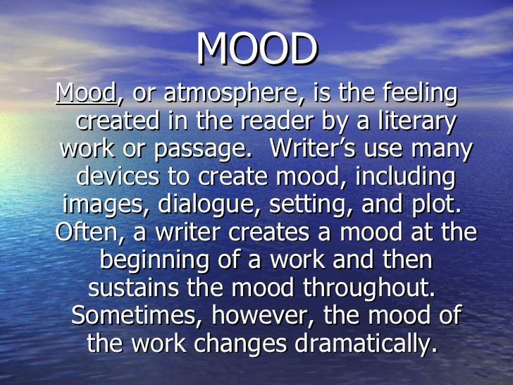 moods of poetry essay War photographer – sample essay mares posted on january 29, 2013 | leave a comment choose a poem in which the creation of mood or atmosphere is an important feature.