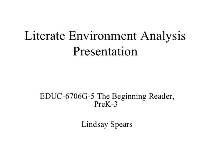 Literate environment analysis presentation