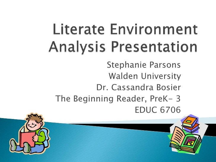 Stephanie Parsons            Walden University         Dr. Cassandra BosierThe Beginning Reader, PreK- 3                  ...