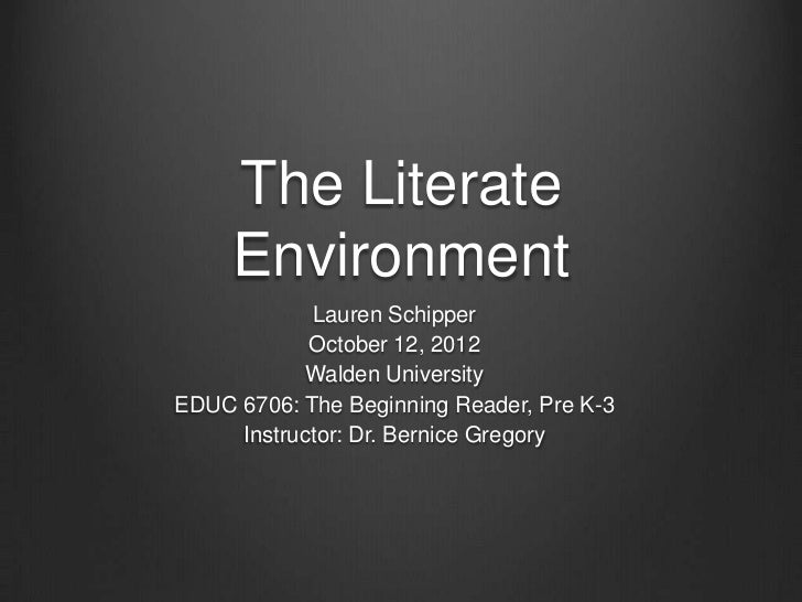 Literate environment assignment