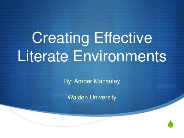 Literate environments