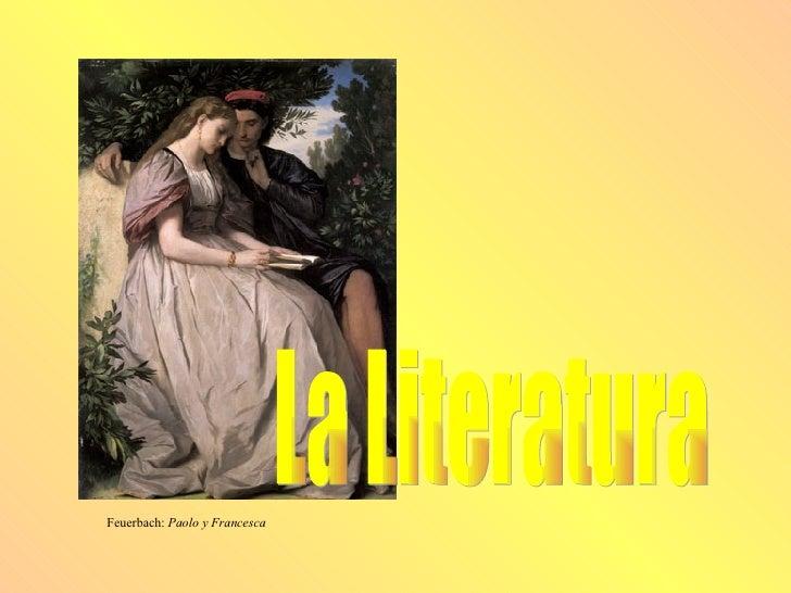 La Literatura Feuerbach:  Paolo y Francesca