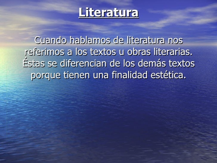 Literatura. Cuento
