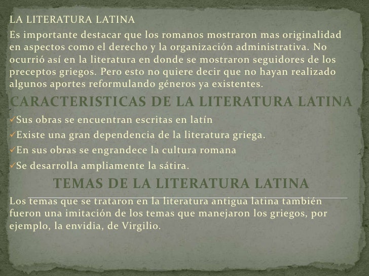 epocas de la literatura latina - photo#2