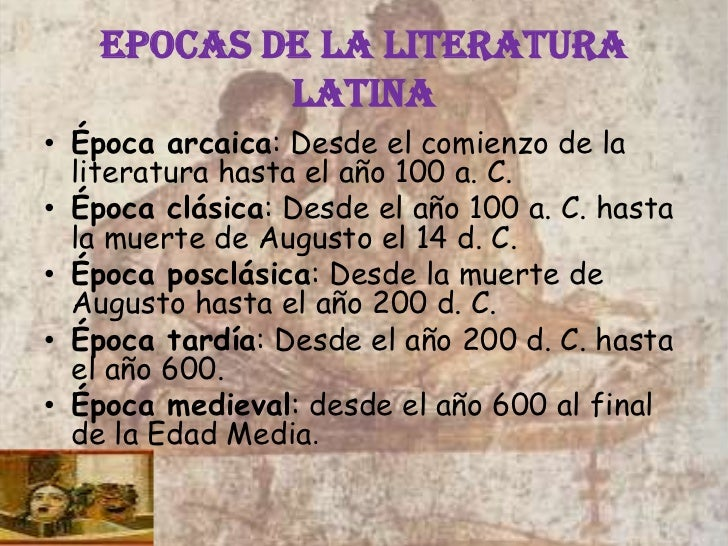 epocas de la literatura latina - photo#1