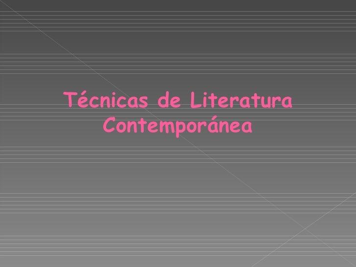 Literatura contemporanea 1