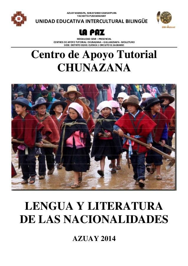 Literatura de las nacionalidades colegio la paz 2.1