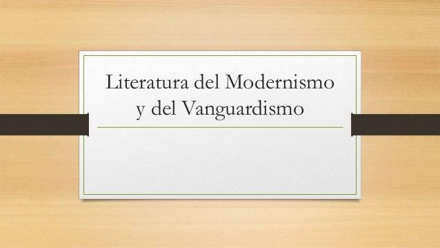 Literatura del Modernismo y del Vanguardismo