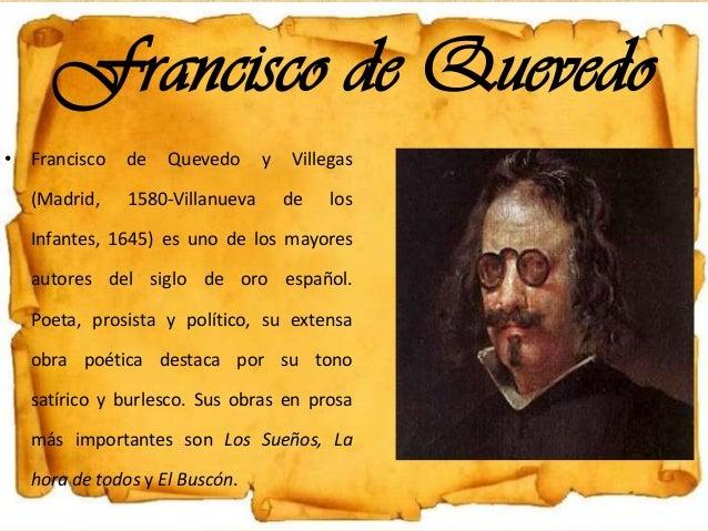 Francisco de Quevedo • Francisco de Quevedo y Villegas (Madrid, 1580-Villanueva de los Infantes, 1645) es uno de los mayor...