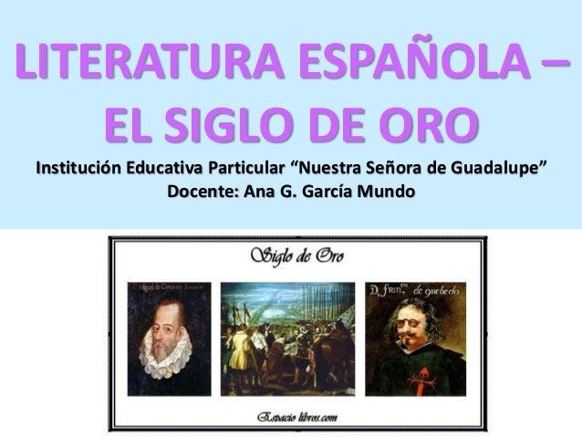literatura espanola siglo: