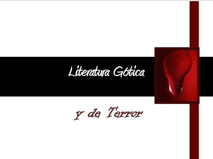 Literatura gótica y de terror