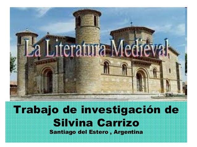 Trabajo de investigación deSilvina CarrizoSantiago del Estero , Argentina
