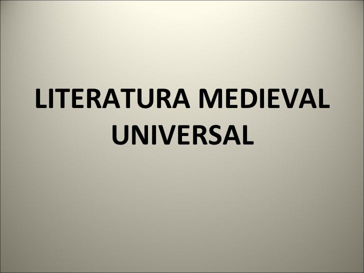 Literatura medieval universal