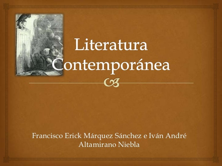 Literatura contempor nea for Imagenes de epoca contemporanea