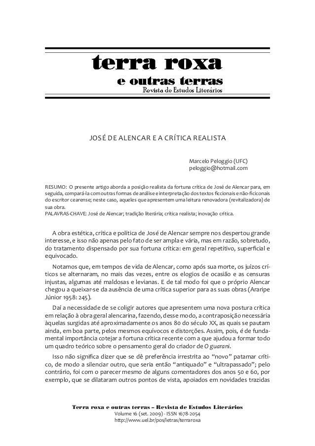 Terra roxa e outras terras – Revista de Estudos Literários Volume 16 (set. 2009) - ISSN 1678-2054 http://www.uel.br/pos/le...