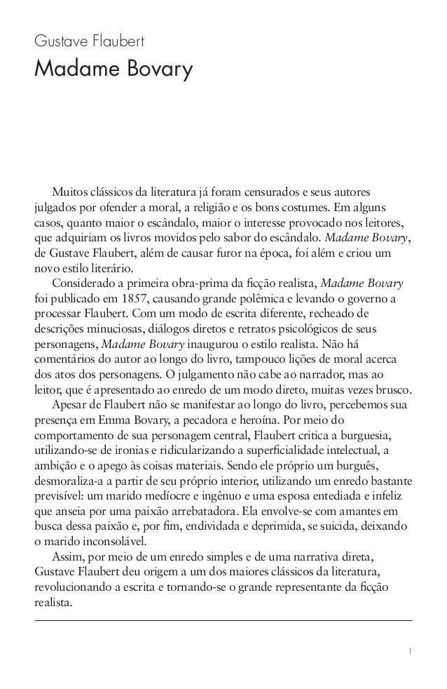 1 Gustave Flaubert Madame Bovary Muitos clássicos da literatura já foram censurados e seus autores julgados por ofender a ...
