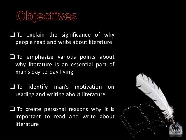 The importance of literature - why?