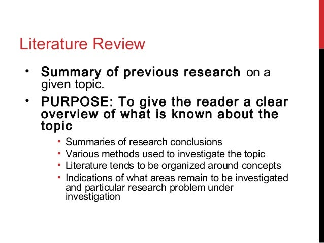 Poorly written literature review
