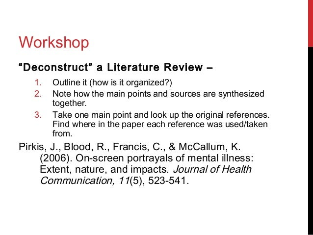 Custom literature review apa style
