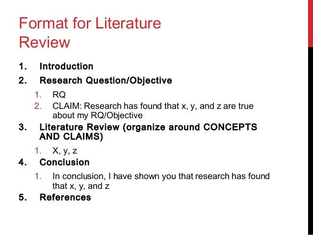 writing a literature review apa