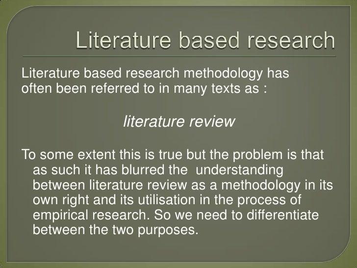 literature based dissertation methodology pdf