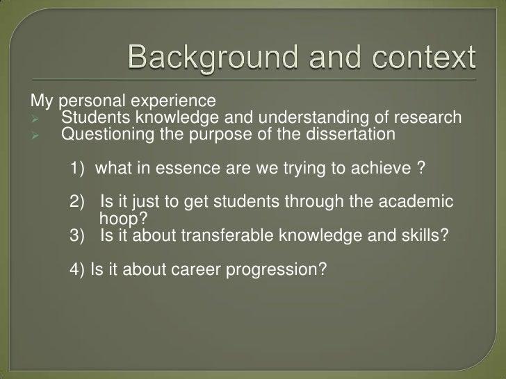 Secondary research dissertation methodology