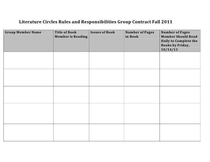 Literature circle contract fall 2011 media 21 simplified