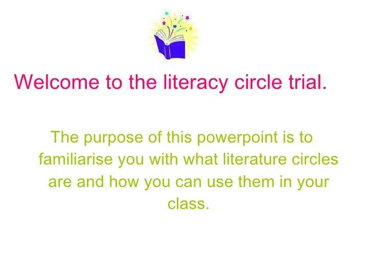Literature circles trial