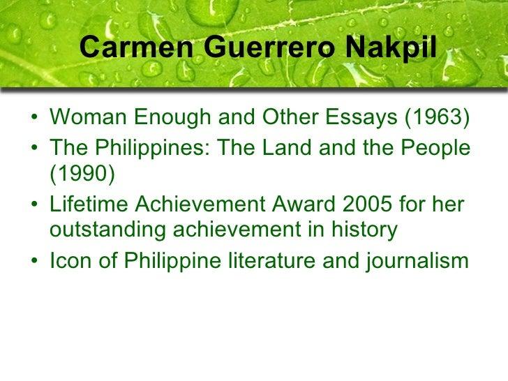 philippine literature 7 essay Philippine literature in the spanish colonial jacinto wrote political essays the figure of rizal dominates philippine literature until.