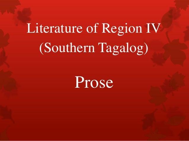 Literature of Region IV (Southern Tagalog)  Prose