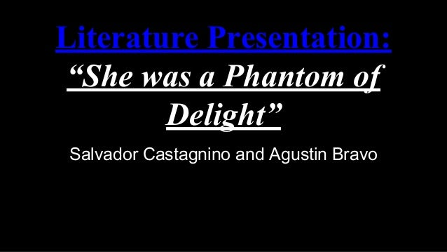 she phantom delight Much to the shock and delight of critics and the industry, the film received   dressed in only the finest, she is paraded around more as an.