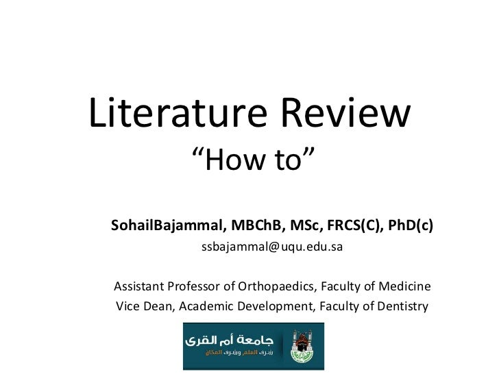 Engineering literature review example