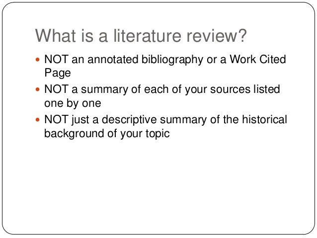 literature review cover page