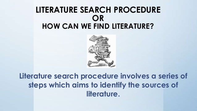 literature review methodology chapter