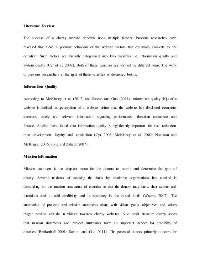 literature review website